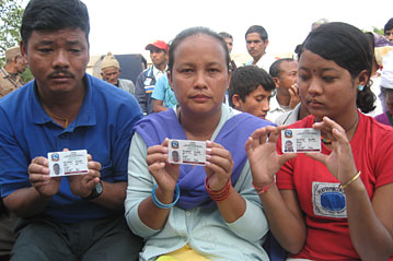 Refugees From Bhutan Get First Id Cards In Nepal S Camps