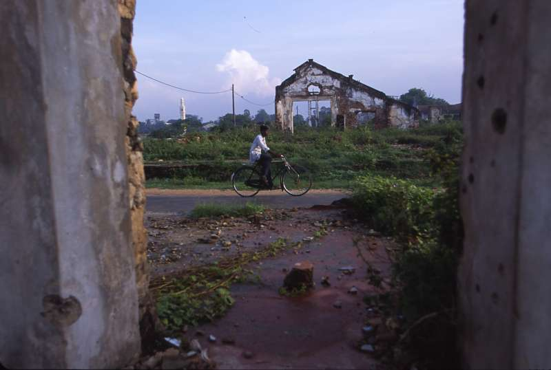 Destruction in Gurunagar, near Jaffna town, where most of the […]
