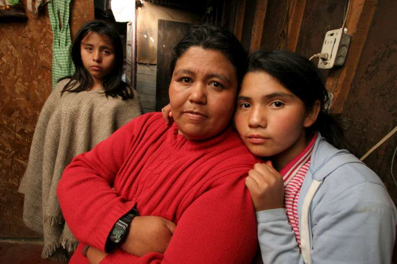 The women of the <em>barrio</em>, Los Altos de la Florida, just outside Bogota.