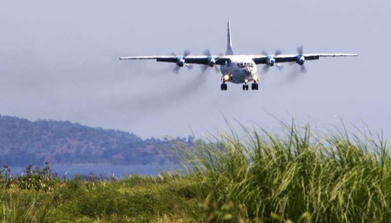 An Antonov-12 cargo plane loaded with UNHCR emergency supplies […]