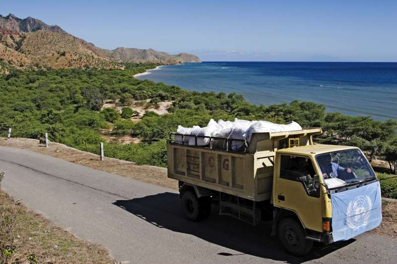 A UNHCR truck traverses mountain roads to deliver aid to the […]