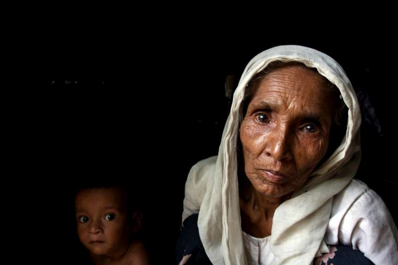 Some 6,000 Rohingya refugees from Myanmar live in the makeshift Teknaf camp, in Cox's Bazar.