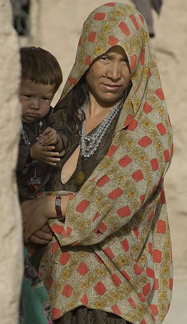 Many of those returning are widows with small children. This woman is one of thousands of beneficiaries of the UNHCR shelter programme in Pul-i-Khumri, northern Afghanistan.