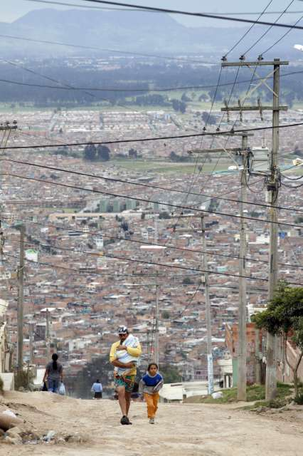 A poor suburb of Bogota where displaced people settle. Due to […]
