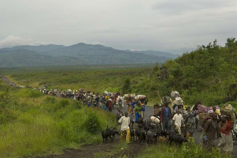 Scores of displaced Congolese head towards the North Kivu capital, […]