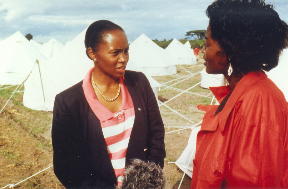 At Makeni Transit Centre for Namibian refugees in Zambia, in June 1989.