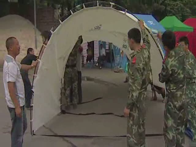 UNHCR donates tents for China's earthquake victims