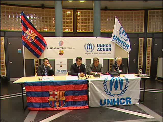 UNHCR and FC Barcelona team up for Refugees