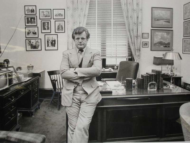 Senator Edward M. Kennedy in his Capitol Hill office in 1977. […]
