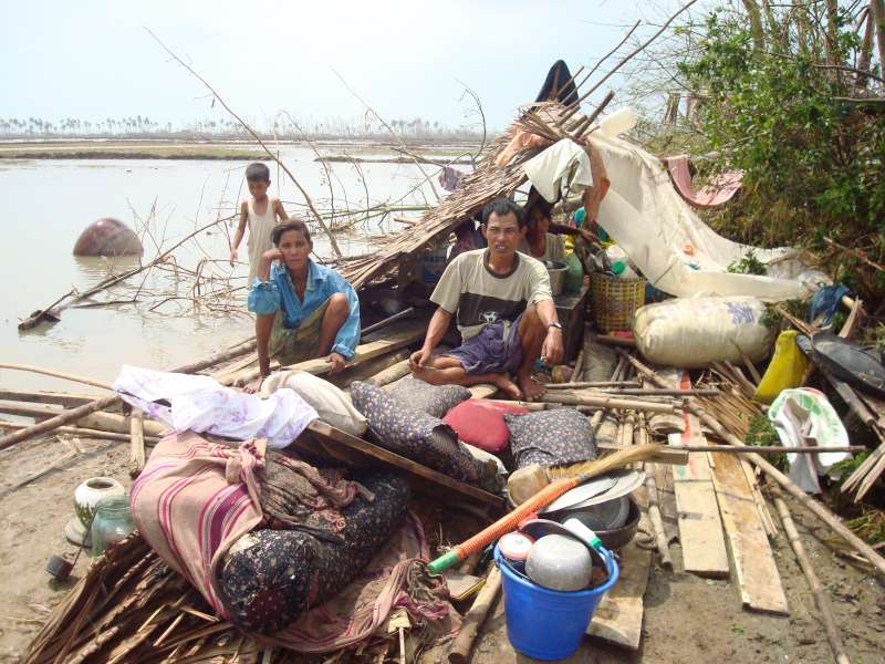Survivors of 2008's Cyclone Nargis shelter in the ruins of […]
