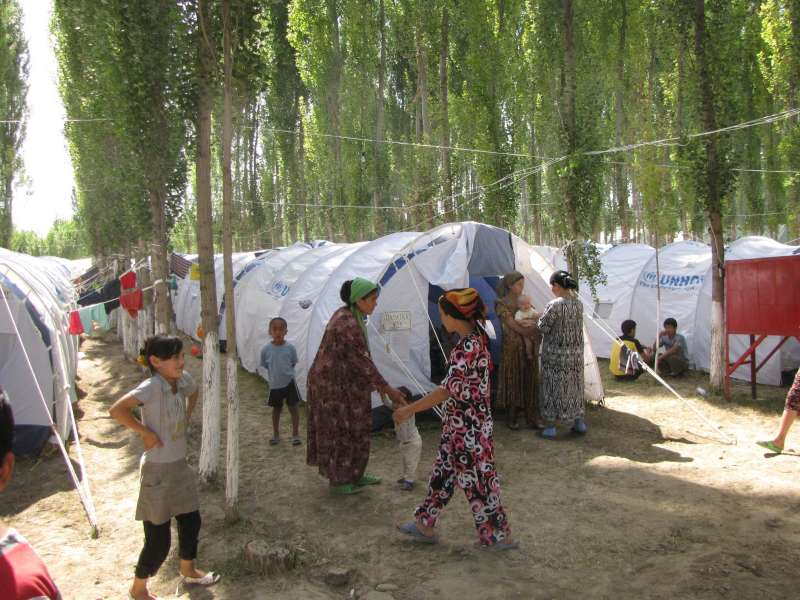 A refugee camp in Kara-Su, in the Andijan province of Uzbekistan, hosts some 2,700 refugees, mainly from the Osh region of Kyrgyzstan.