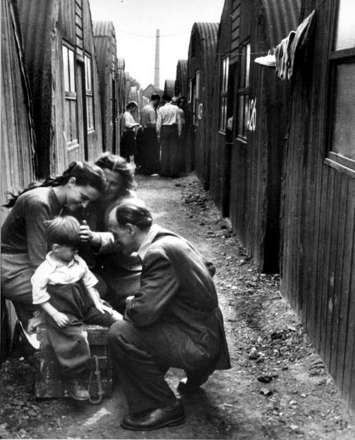 UNHCR's first task in 1951 was to help an estimated 1 million mainly European civilians, including these refugees in a camp in Germany, still uprooted in the aftermath of World War Two.