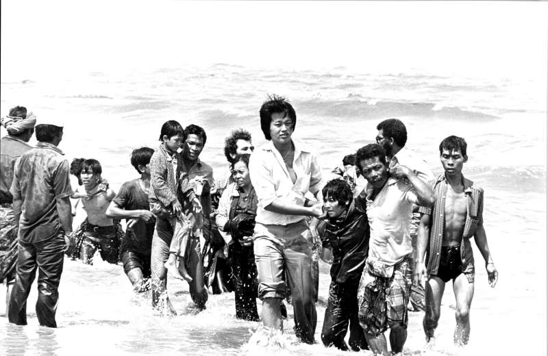 The flight of Vietnamese refugees began after the fall of Saigon to North Vietnam forces in 1975. An estimated 3 million, including these Vietnamese boat people arriving in Malaysia in 1978, fled in the wake of the various conflicts in Indochina.