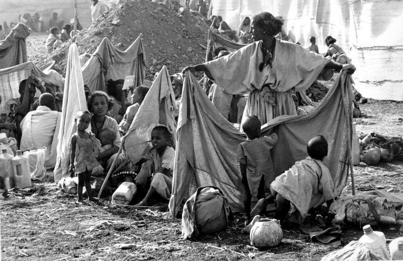 Drought and war resulted in a massive influx of Ethiopians into Sudan during the 1980s and tens of thousands of people died before a relief effort became effective.