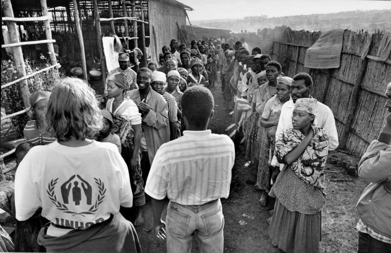 The crisis in Africa's Great Lakes region also involved Burundi where 270,000 Rwandans sought safety, including this group in Mugano camp.
