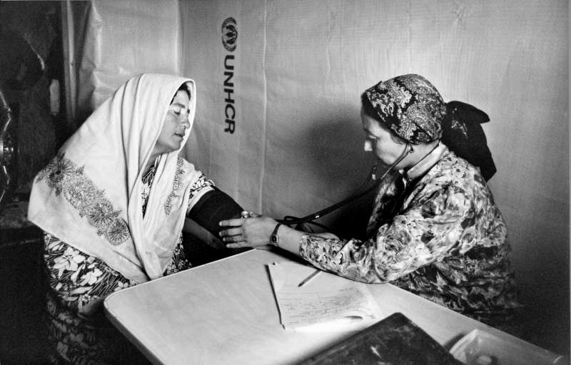At least 20,000 people were killed, a half million people were displaced and 60,000 civilians fled to Afghanistan, including this doctor and patient, when civil war erupted in the Central Asian nation of Tajikistan in 1992.