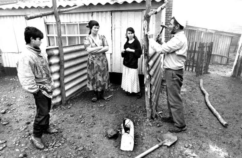 After the collapse of the Soviet Union in 1991, conflict erupted in several areas of the former empire, forcing hundreds of thousands of people to flee, including these civilians from North Ossetia at a collective centre.