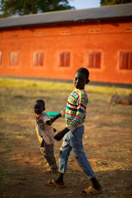 Two young boys at the UNHCR way station in Torit, Eastern Equatoria […]