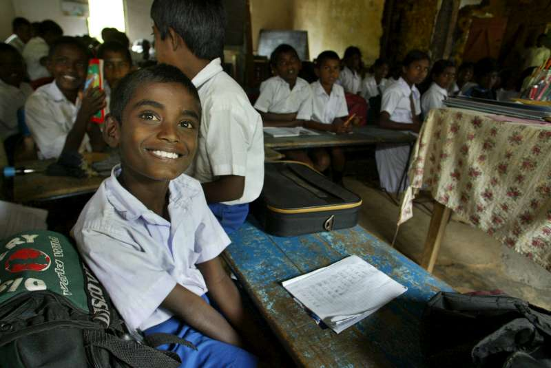 The son of a Tamil tea picker attends class at a school on a […]