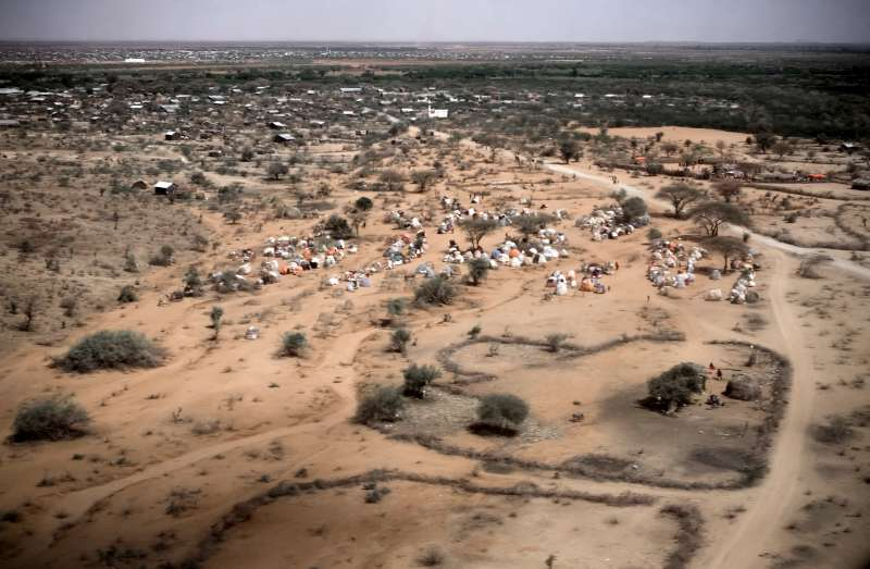 A spontaneous camp for internally displaced people is seen from […]