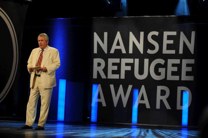 Former British politician and broadcast journalist Sir Martin Bell, hosted the 2011 Nansen Award ceremony, which took place in Geneva.