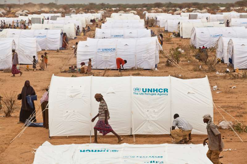 Tents in the Ifo camp extension of Dadaab refugee complex, which […]
