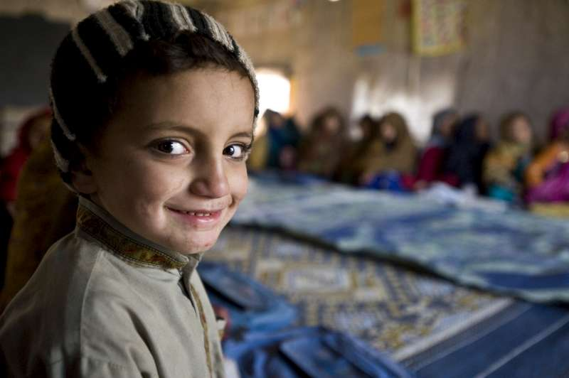 Thinking of You: Millions will be thinking of the displaced, like this boy in Pakistan, on World Refugee Day.