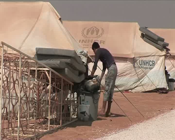 Jordan: First Syrians in new camp