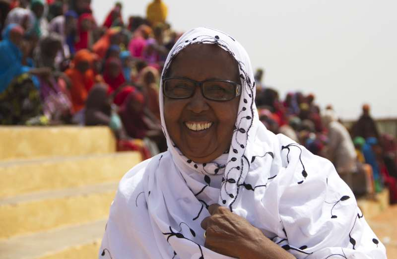 Mama Hawa works to empower women and girls, whom she regards as the backbone of society.