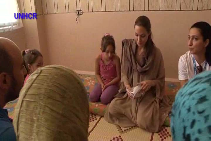 Lebanon: Angelina Jolie Meets Syrian Refugees