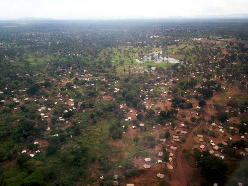 An aerial view of scattered refugee settlements in Maban County, […]