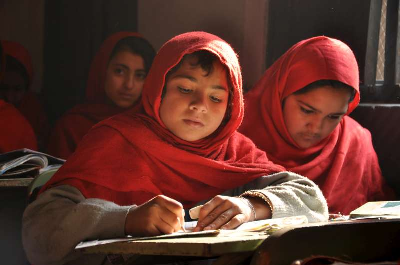 Rukayah, 12, loves her new classroom in Peshawar, capital of north-west Pakistan's Khyber Pakhtunkhwa province, which has hosted hundreds of thousands of Afghan refugees over three decades. UNHCR is providing badly needed financial support for the improvement of schools in refugee-hosting regions, which will provide education for girls and boys.