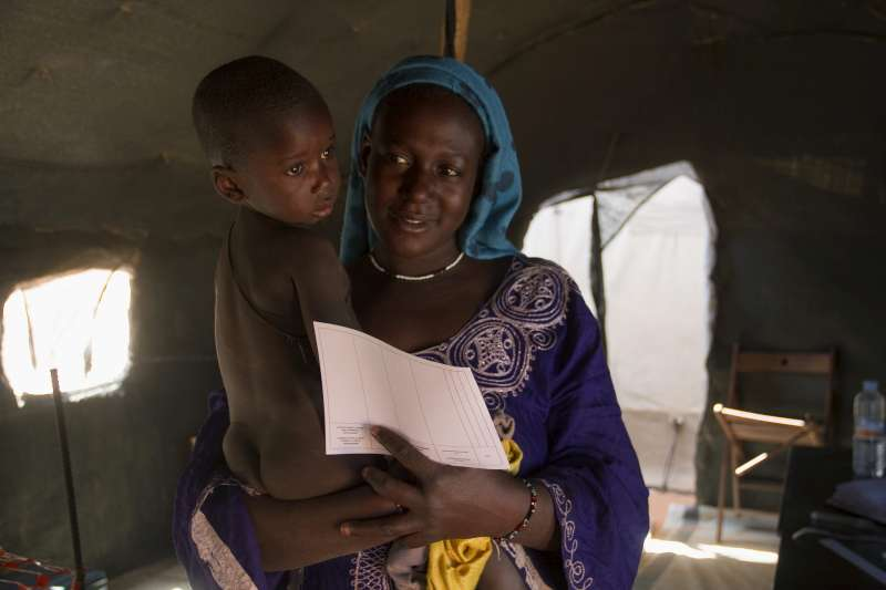Mariama, 20, and her son Mohamed fled bombing in the Timbuktu […]