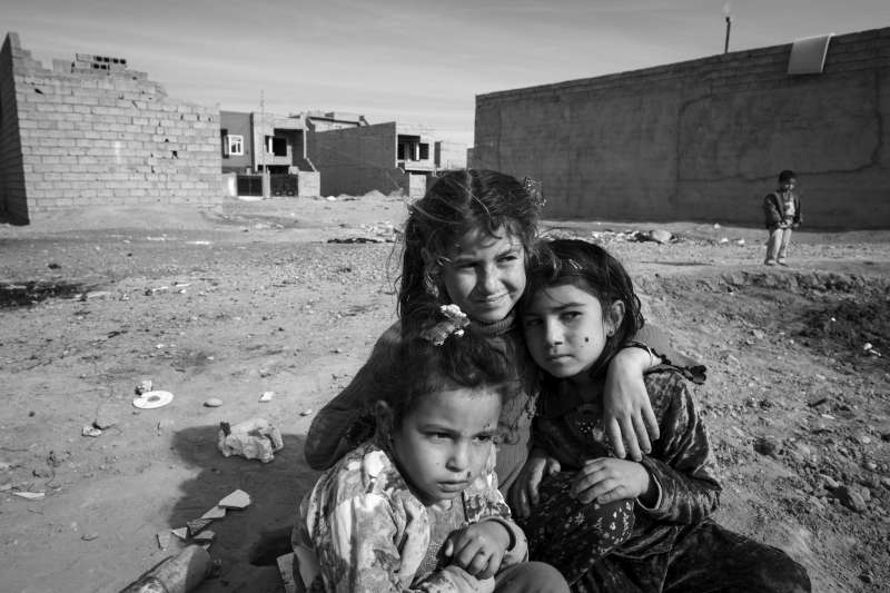 Three young Syrian girls play in a rundown area of Erbil. The […]