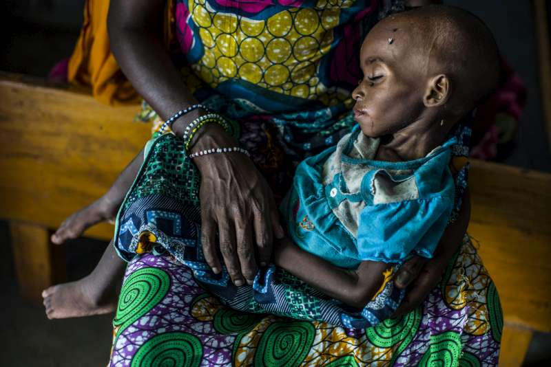 Eighteen-month-old Aishatou is being treated for acute malnutrition […]