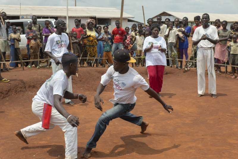 Capoeira brings leisure and peace-building for refugees in northern DR Congo