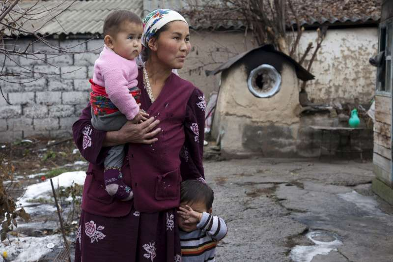 This stateless mother came to Kyrgyzstan from Tajikistan. Her children are also stateless as a result. Without papers proving her nationality, she cannot receive badly needed social assistance.