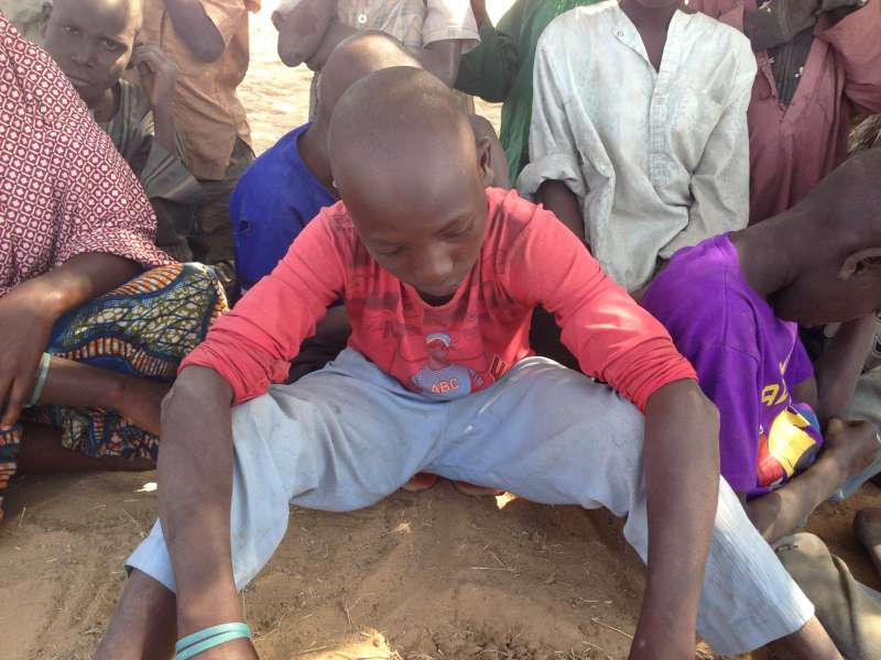Nigerian refugee children lose family in the desperate dash for safety