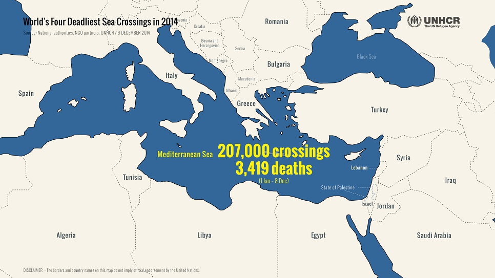 The number of people crossing the Mediterranean Sea has nearly tripled since 2013, as more migrants, refugees and asylum-seekers try to reach safety in Europe.