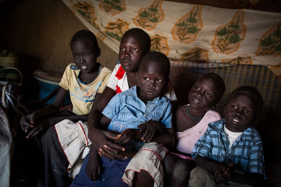 Lina, 13, is raising her four younger siblings in Pariang, South Sudan.