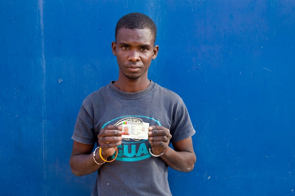 Abou, 24, is a former street child who acquired a birth certificate with help from an aid agency.