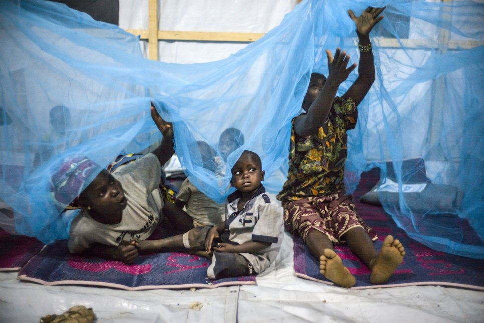 After fleeing their homes in the Central African Republic, these refugees have found safety at Bili camp in the Democratic Republic of the Congo.