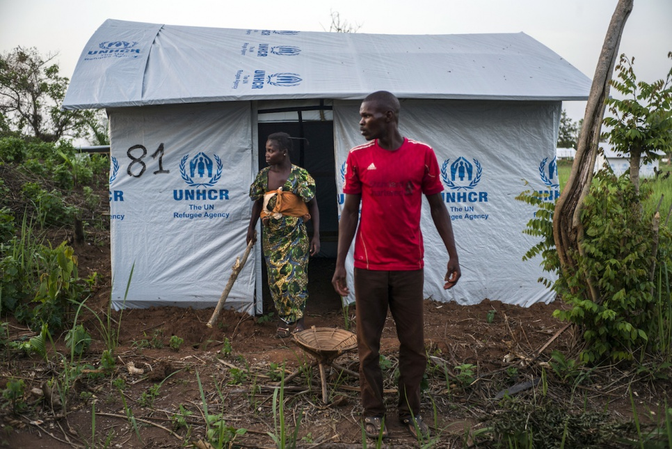 Souzane and her family are among more than 2,700 refugees from the Central African Republic now living in Bili camp, in the Democratic Republic of the Congo.