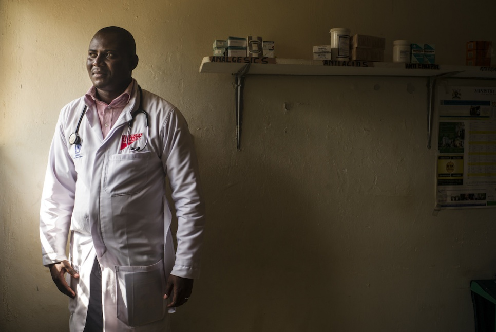 Dr. Kapuku Koukou from Medical Teams International directs the health centre at Nakivale refugee settlement in western Uganda.