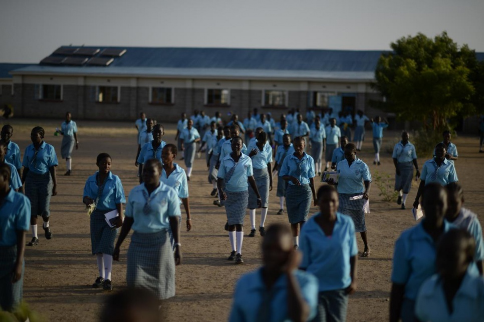 Morneau Shepell is the only boarding school with modern facilities and solar lighting for girls in Kakuma camp.