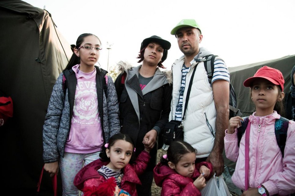 This family fled Aleppo in search of safety and medical care for Melva (top left) who has hearing problems that stopped her from going to school.