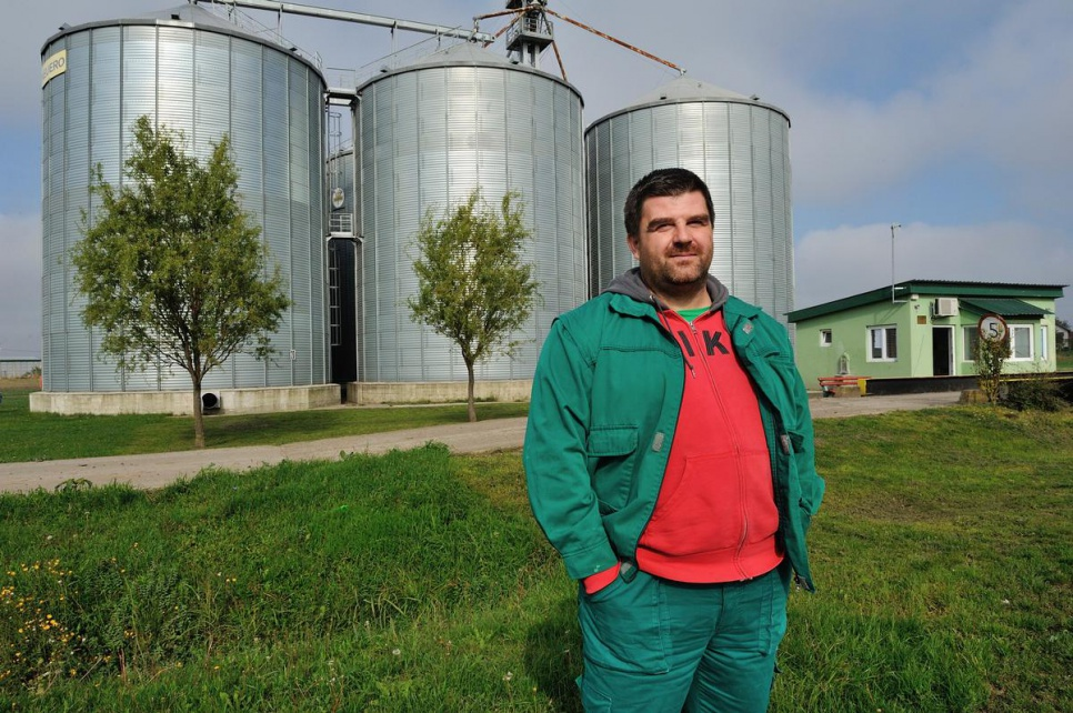 """I made a decision on my own to give apples,"" Miodrag says, ""but when I came home and told my family they all agreed."""