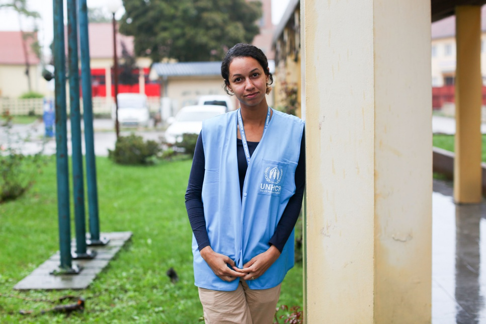 "<strong>Tovarnik, Croatia</strong><br><br>""I work at UNHCR, but I have a quite junior position. I have a desk job where I reach out to job candidates and try to get them to consider UNHCR. But whenever there's an emergency, anyone who has a useful skill is sent to the field. This is my first emergency mission. My father is Iranian so I speak a little bit of Farsi. I didn't realize how useful that could be. Yesterday I was helping an Afghan woman carry her child across the Serbian border, and I was explaining to her what she could expect when we arrived. She was so comforted by the little information I could offer. I've seen so many faces light up just because they heard ""Welcome to Croatia"" in their mother tongue. I'm thankful for my desk job, but this is why I joined UNHCR."""