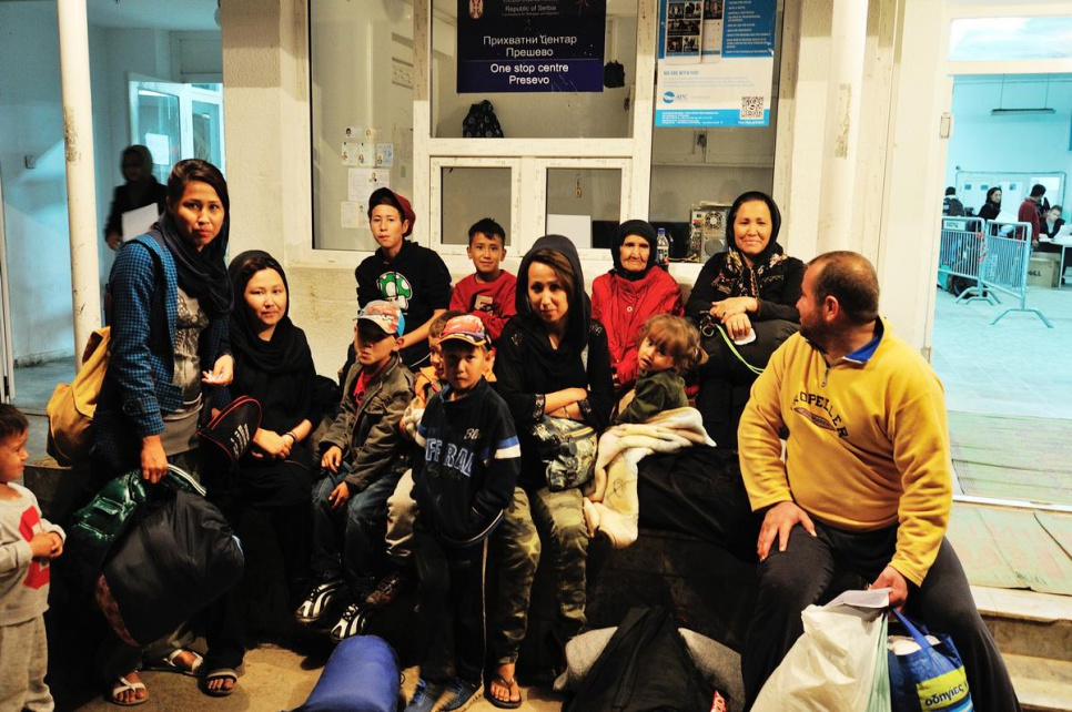 UNHCR found Beghum's family at Presevo transit centre in Serbia and reunited them there not long after.