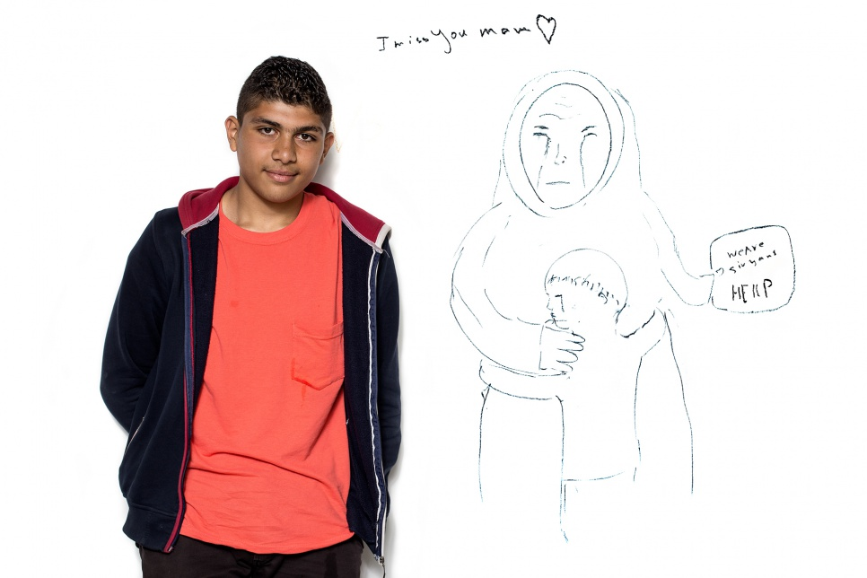 Mohammad, 16, from Syria.<br><br>Mohammad's journey to Hungary involved walking for over 100 kilometres. His family remains in Syria. He would like to get them out of Syria as soon as he can. It is common for young people to travel together in groups of four or five.